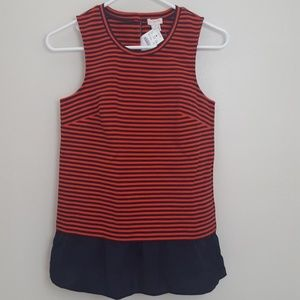 ☀️NEW!!☀️ J. Crew Red and Navy Striped Blouse